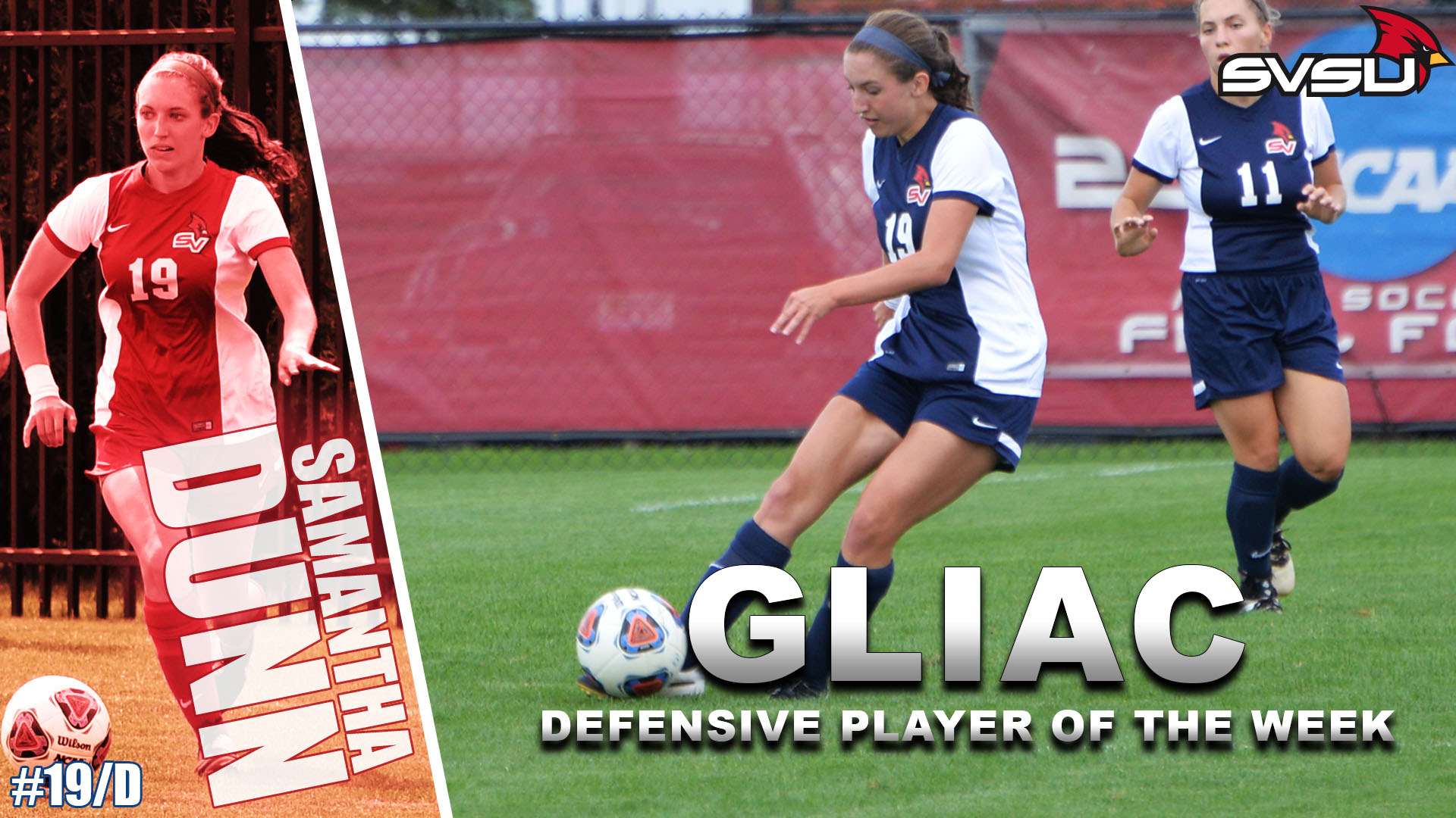 Samantha Dunn Named GLIAC Defensive Player of the Week