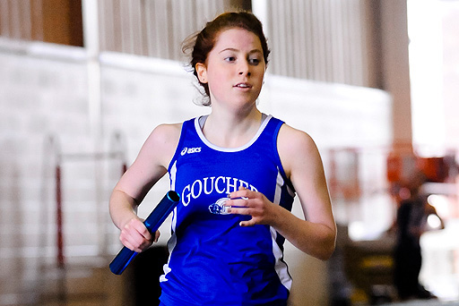Goucher Takes First in High Jump, Distance Medley Relay