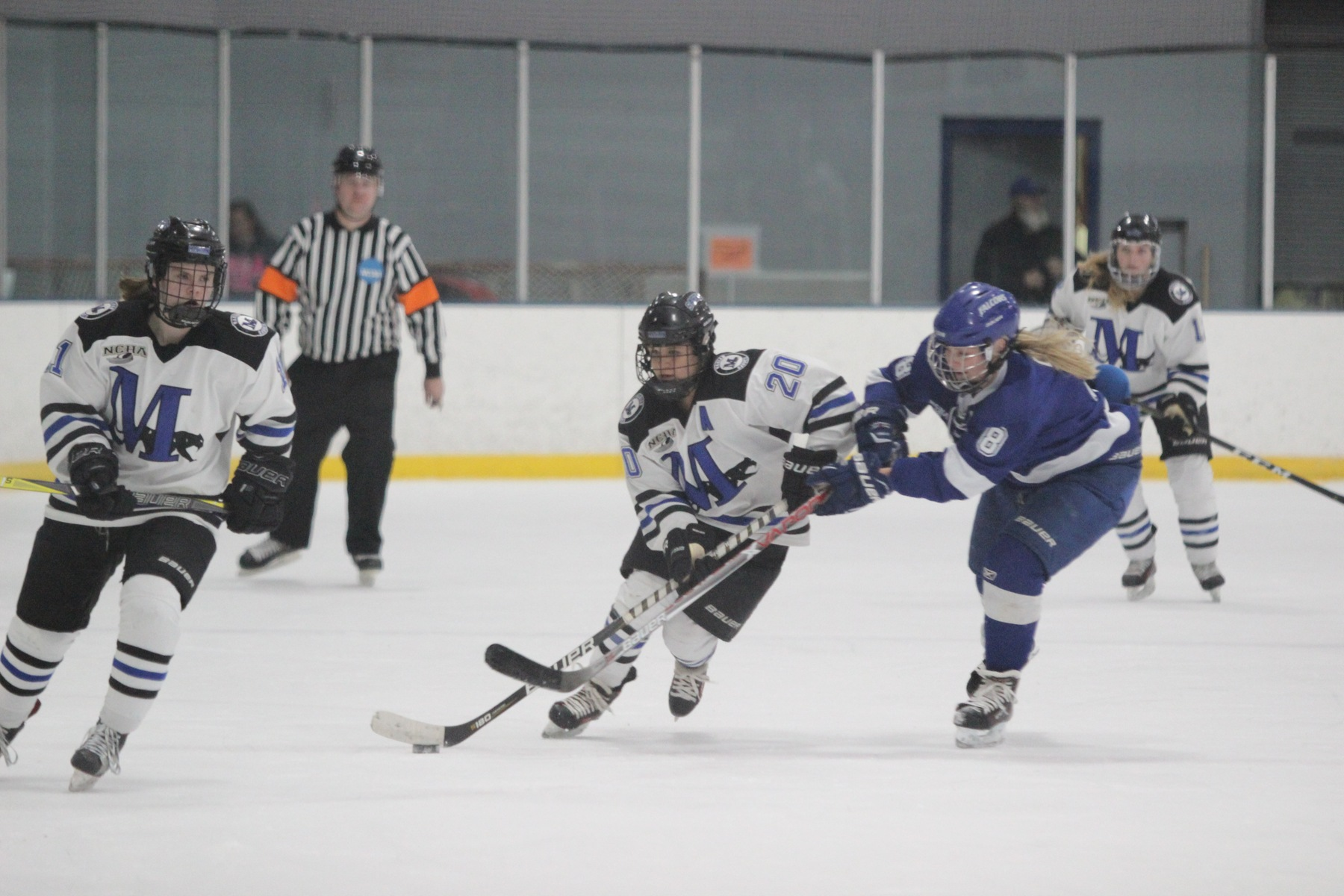 Hailey Miller heads up ice.