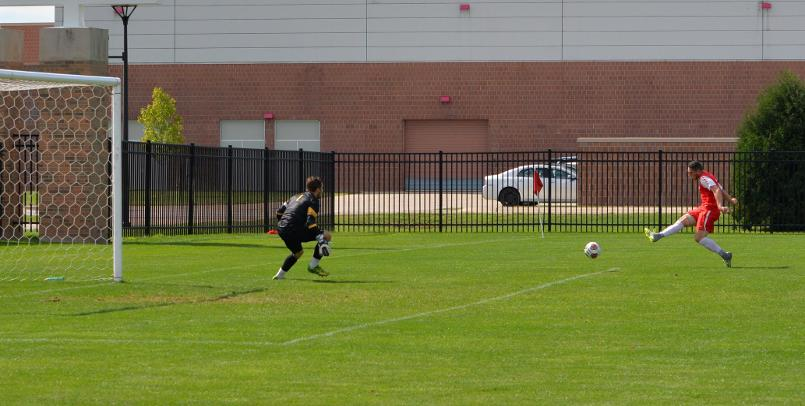 Jordan Kalk notched the first SVSU goal of the game against Ashland...