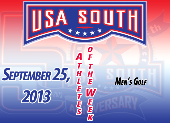 USA South Men's Golf Athletes of the Week - September 25, 2013