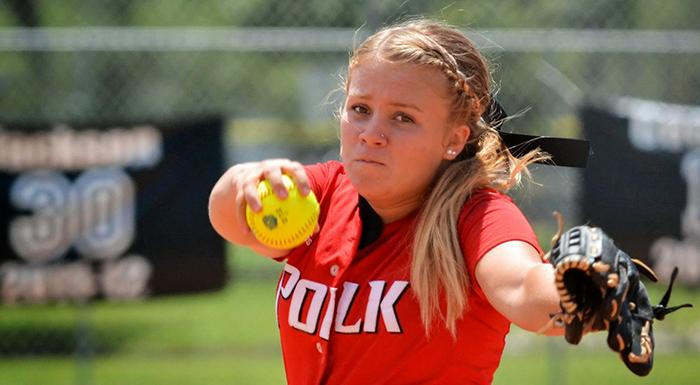 With a win today, Riley Caylor improved to 2-0. (Photo by Tom Hagerty, Polk State.)