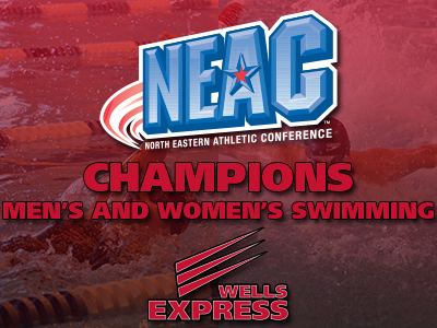 CHAMPIONS! Men's and Women's Swimming Earn NEAC Titles