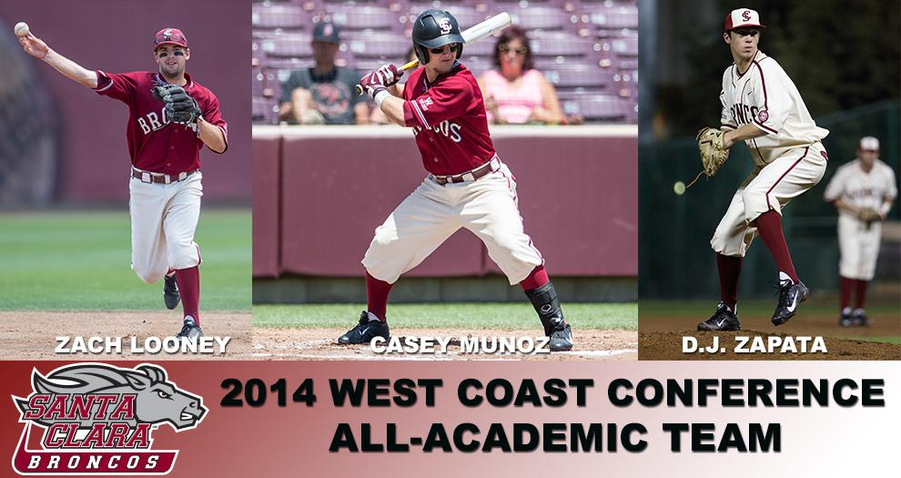 Four Bronco Baseball Players Receive WCC All-Academic Honors