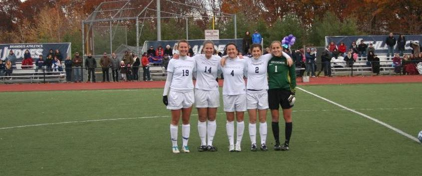 Seniors Megan Kessler, Kelly Peterson, Mary Shimko, Madeline Stein and Leah Sax