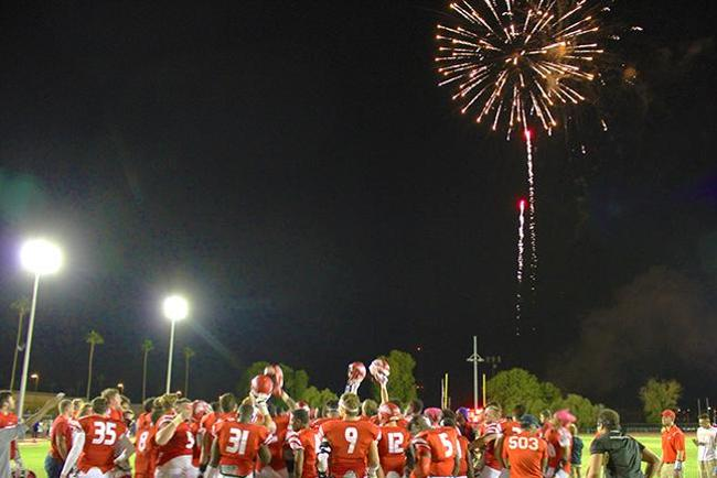#13 Mesa Explodes for 58 Points in Rout Over Phoenix College, 58-13