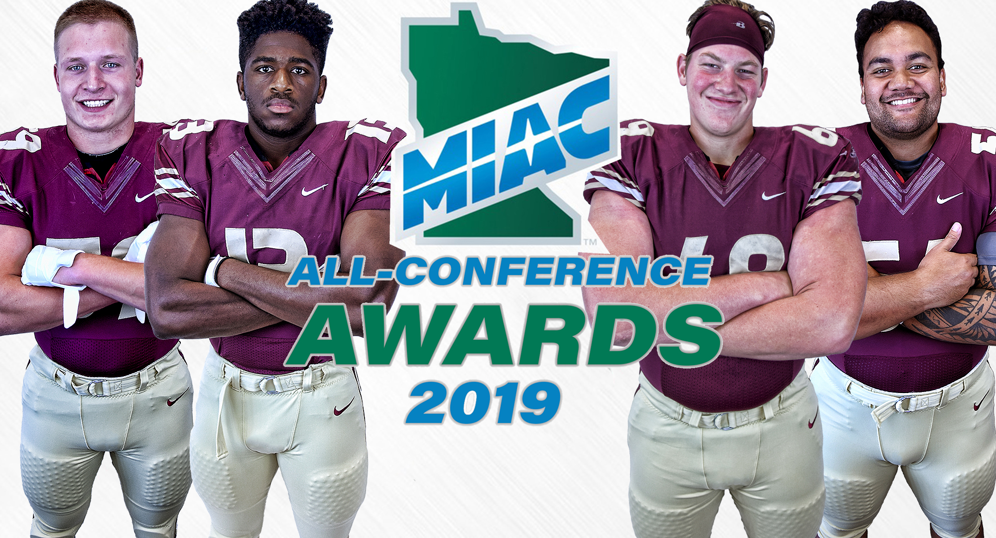 Alex Berg, Willie Julkes, Hans Solberg and Mykal Tuiolosega-Siufanua were all named to the MIAC All-Conference First Team.