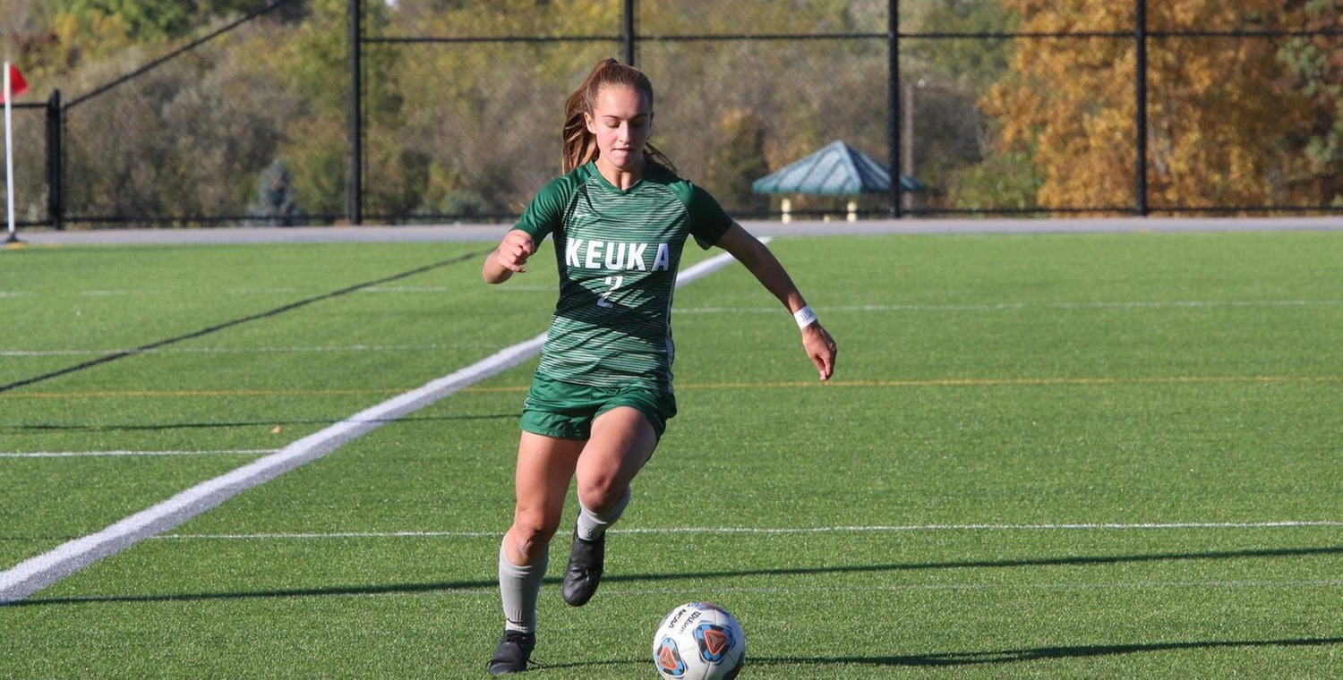 Lydia Hall (2) scored the game-winning goal and added an assist for Keuka on Saturday