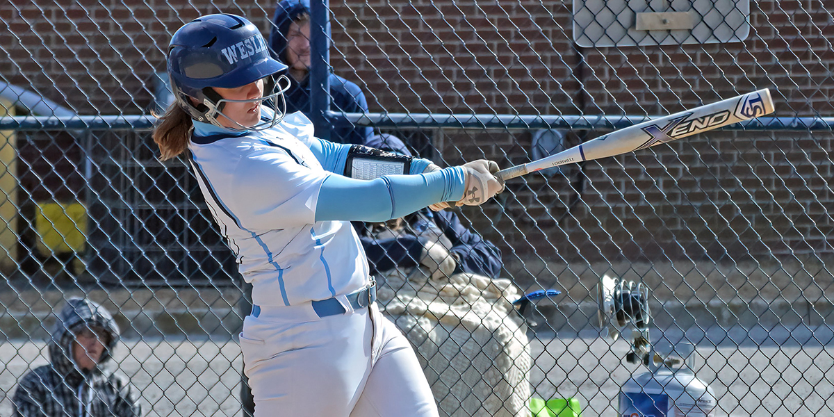Softball splits home doubleheader with Widener