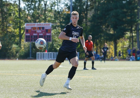 King Scores Twice to Propel Men's Soccer Over Suffolk, 3-1