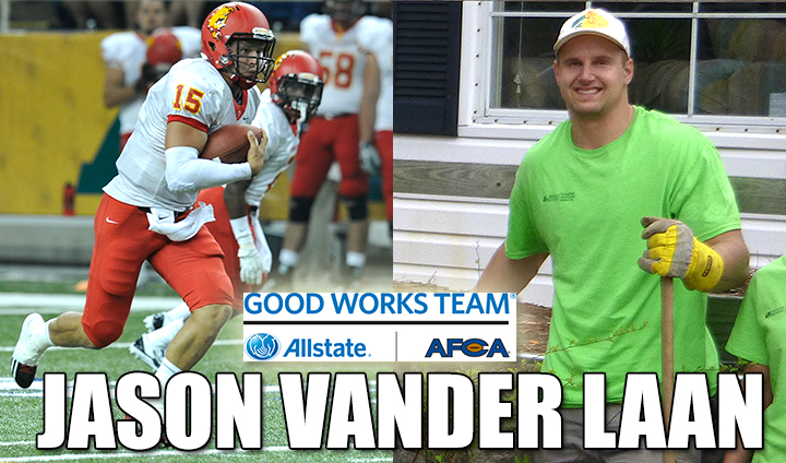 Ferris State All-America QB Jason Vander Laan Among National Nominees For AFCA Good Works Team