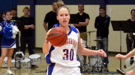 Falcon women earn solo title as Luethe scores her 1000th point