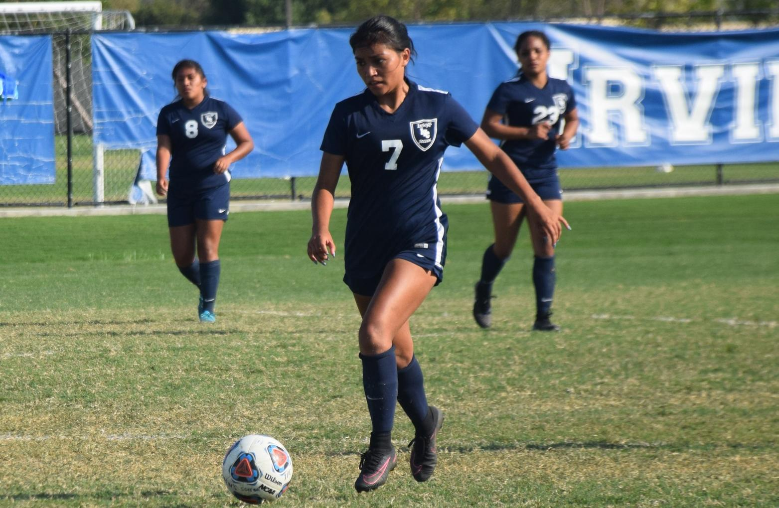 Women's soccer team tops Golden West for first win