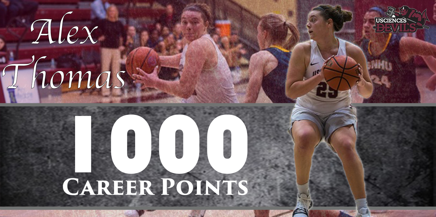Women's Basketball Breaks CACC Record with 17 3-Pointers; Thomas Reaches 1000 Career Points in Win at Wilmington