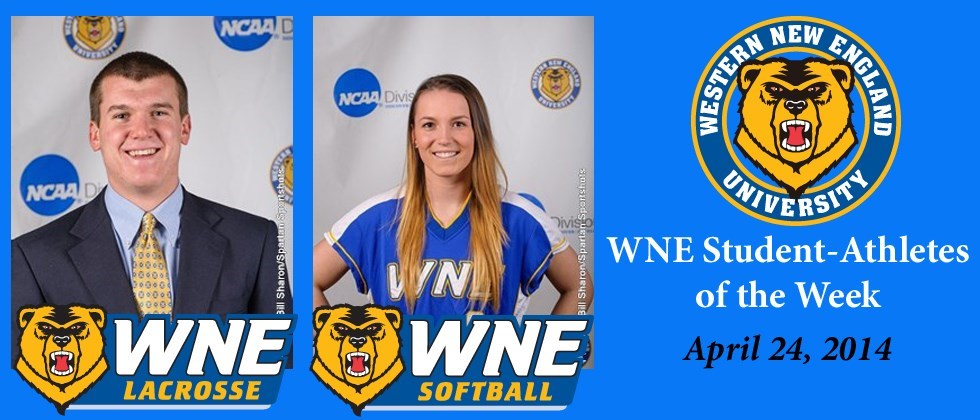 Adam Knapton, Heidi Grieger are the Latest Winners for WNE Student-Athletes of the Week
