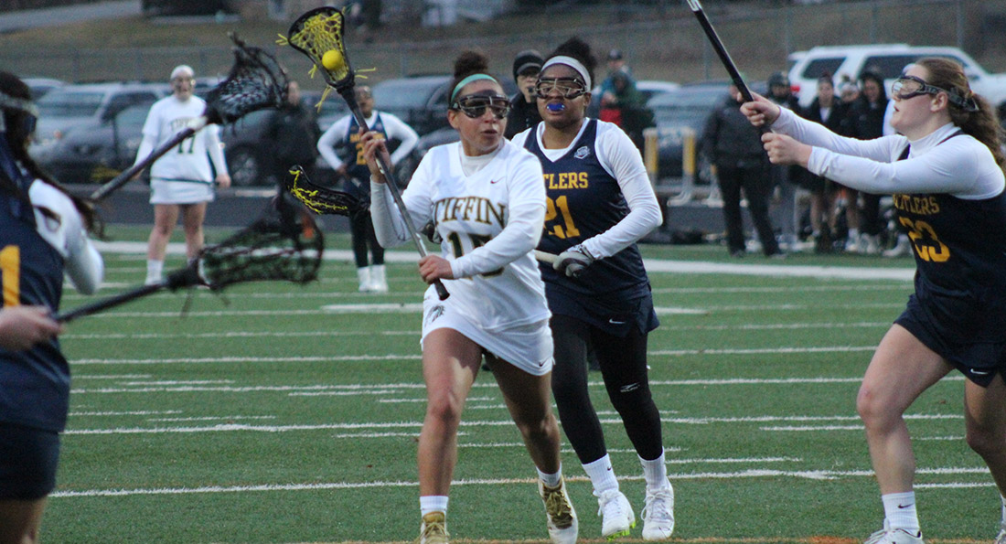 Leah Davis had two goals in Tiffin's 15-1 win over Alderson Broaddus.