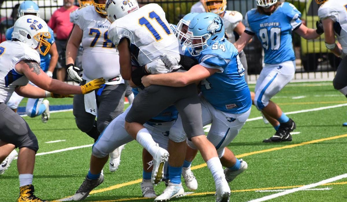 Westminster Football Falls to St. Scholastica in Final Seconds