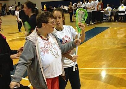 SJC's Nicole Danisi helps out at Speical Olympics