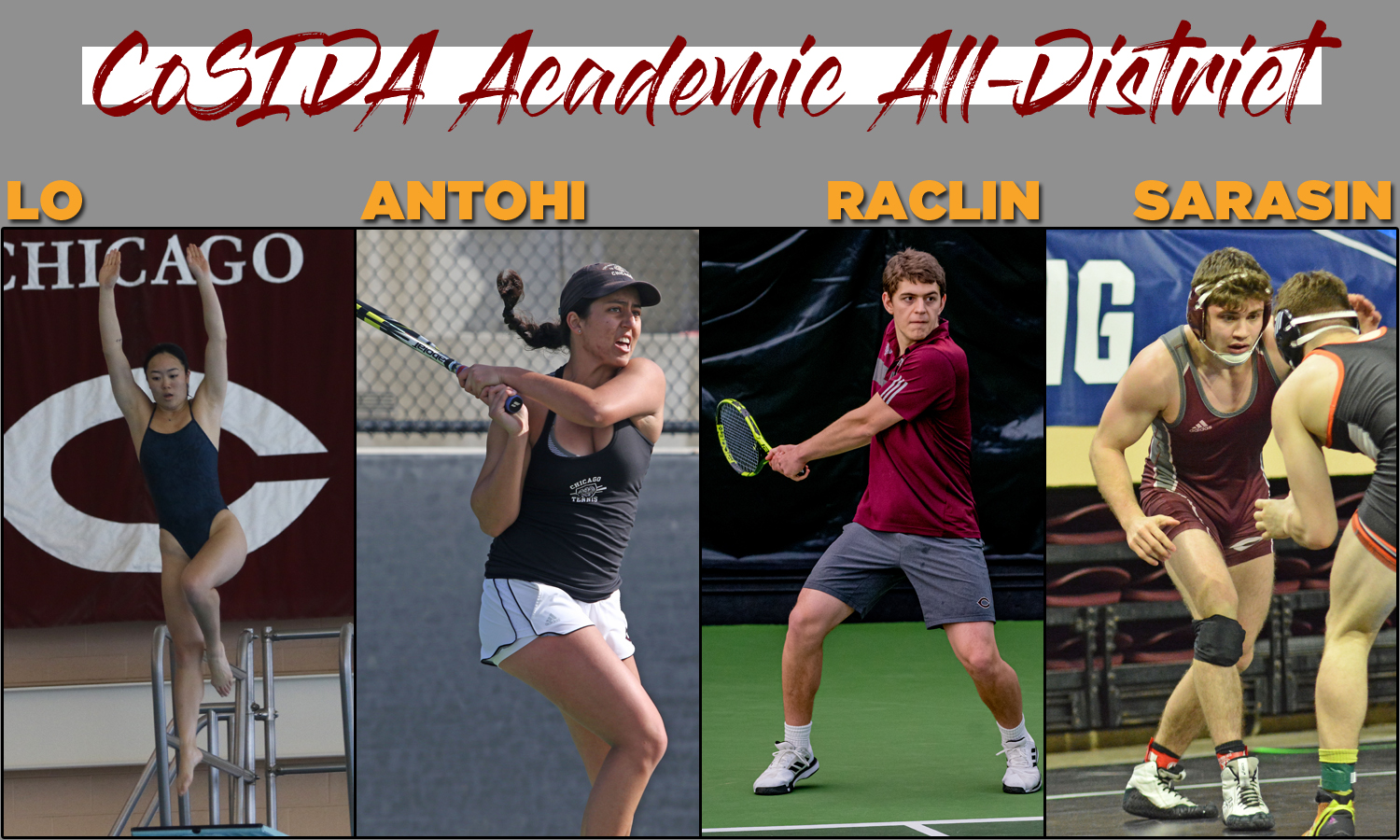 Four Maroons Named to CoSIDA Academic All-District At-Large Teams