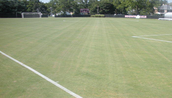 photo of the soccer field from the corner flag