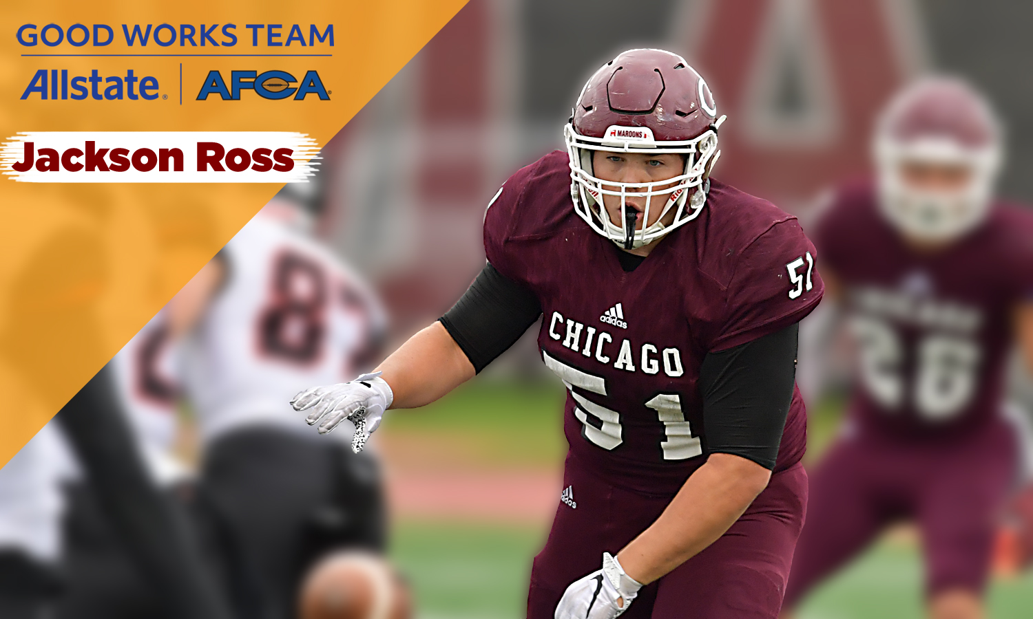 Jackson Ross Selected to 2020 Allstate AFCA Good Works Team