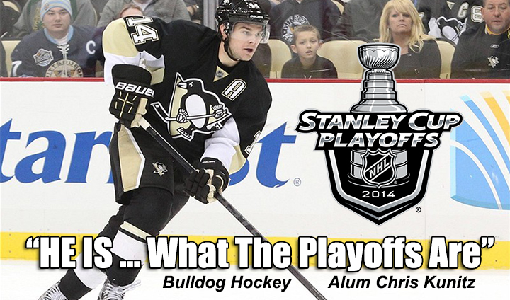 STORY: Bulldog Alum Kunitz's Style, Grit Perfect For Penguins In Playoffs