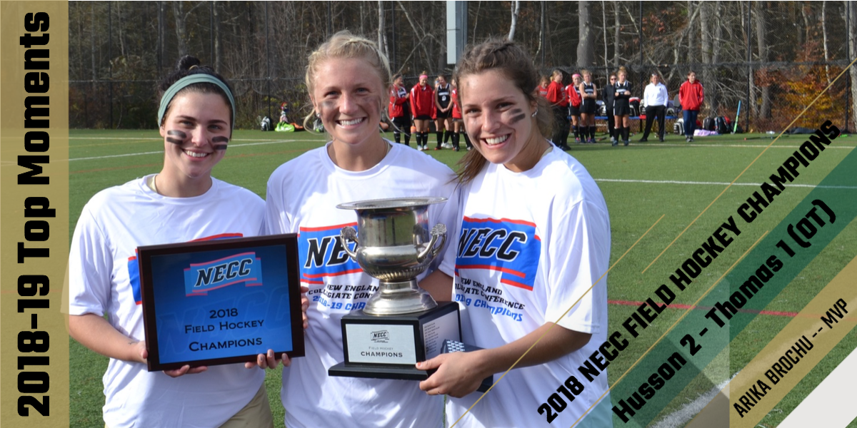 Top Moments of 2018-19: Brochu's OT Goal Helps Eagles Capture NECC Field Hockey Championship