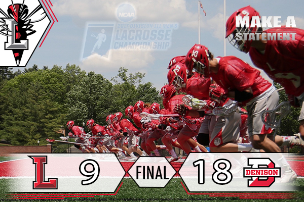 Men's Lacrosse's NCAA Tournament Run Ends At Denison, 18-9