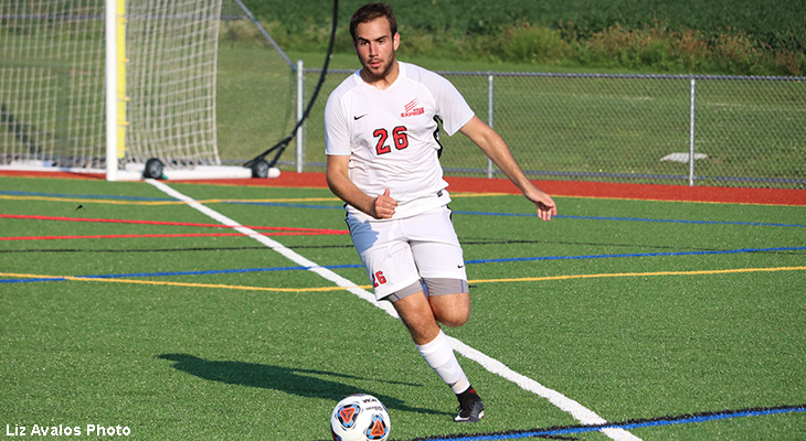 Men's Soccer Scores Four, Wins NEAC Opener