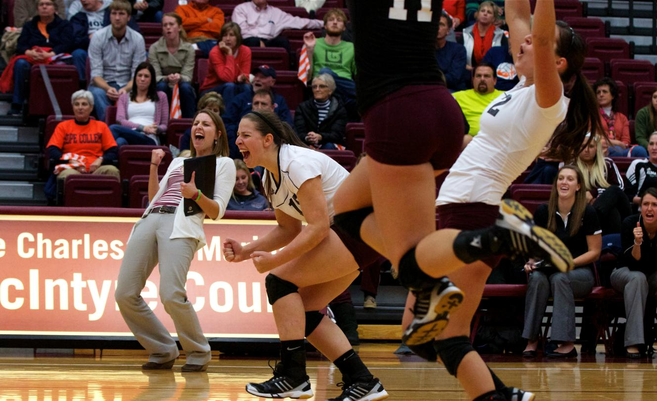 Volleyball beats Trine University 3-0 (25-22, 25-22, 25-15)