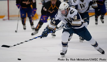 Men's Hockey Opens NCHA Playoffs with Win over Pointers