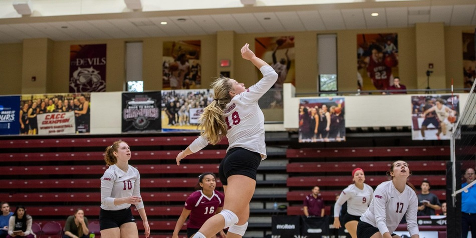 Women's Volleyball Takes Set from Mercy in Tri-Match at Bobby Morgan Arena on Saturday