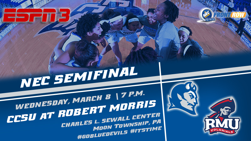 Women's Basketball and Robert Morris Meet Again Wednesday in NEC Semifinal