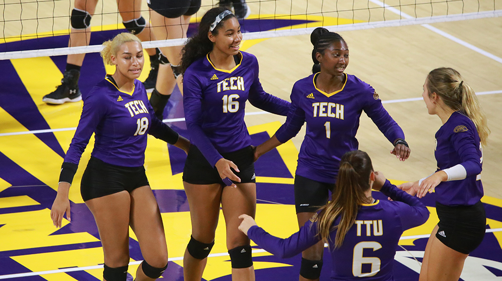 TTU volleyball overwhelms Tennessee State, rolls to 3-0 victory