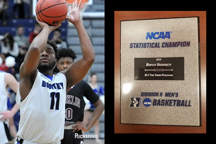 Bentley Leads Nation in Free Throw Percentage