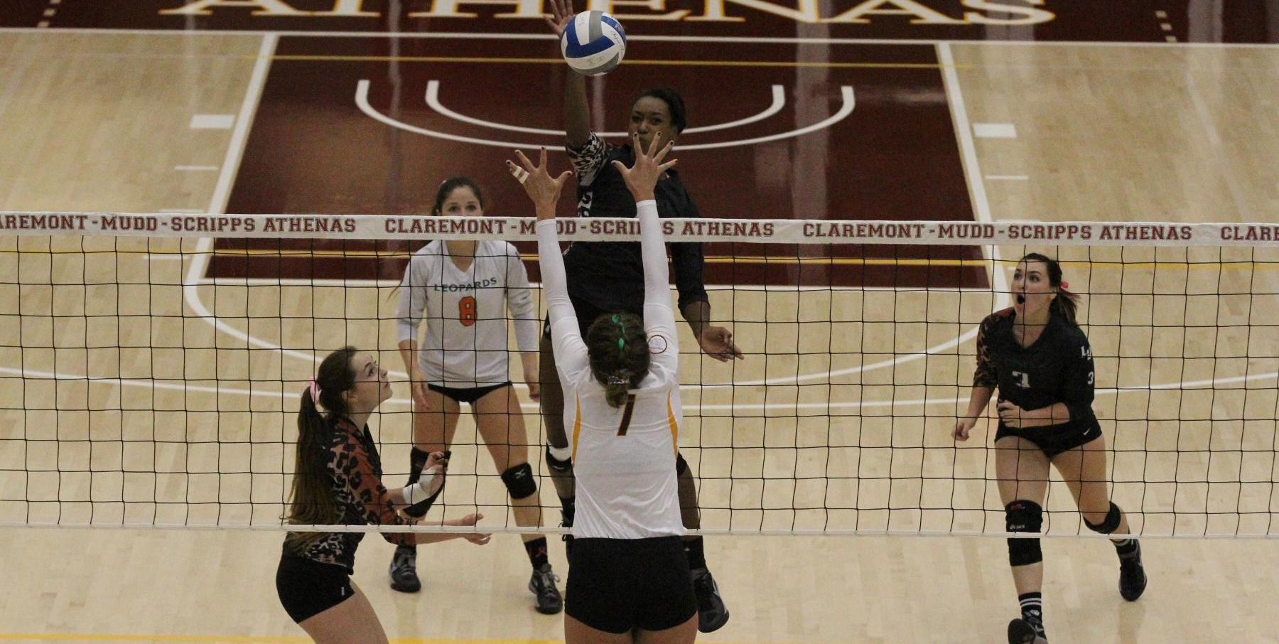 Volleyball hands No. 2 Claremont-Mudd-Scripps first loss of season