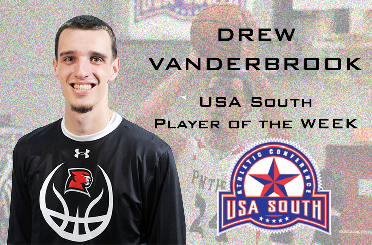 Men's Basketball: Drew Vanderbrook earns USA South Player of the Week honor