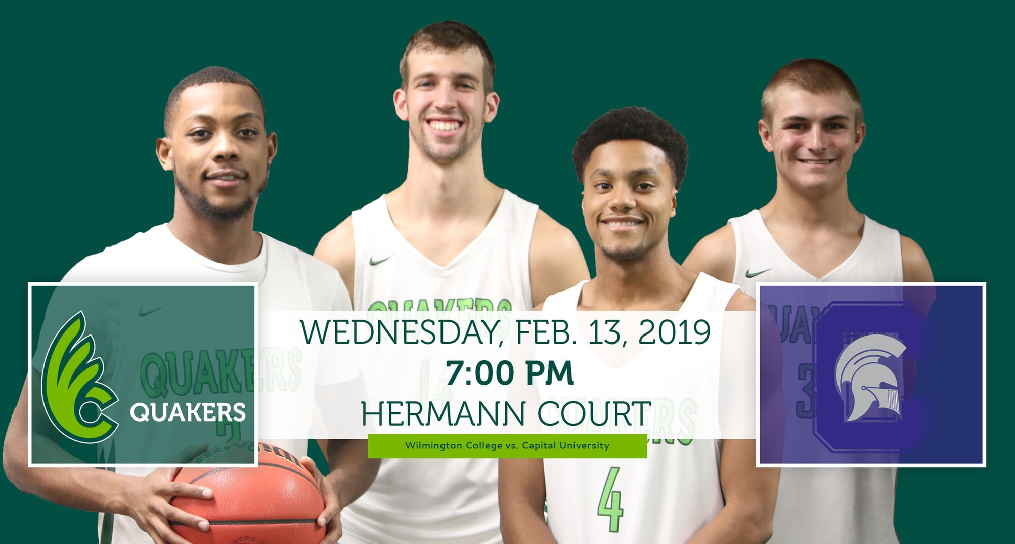 Men's Basketball Hosting No. 16 Capital on Senior Night