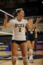 UCSB Sweeps UC Davis in Halloween Night Volleyball Action