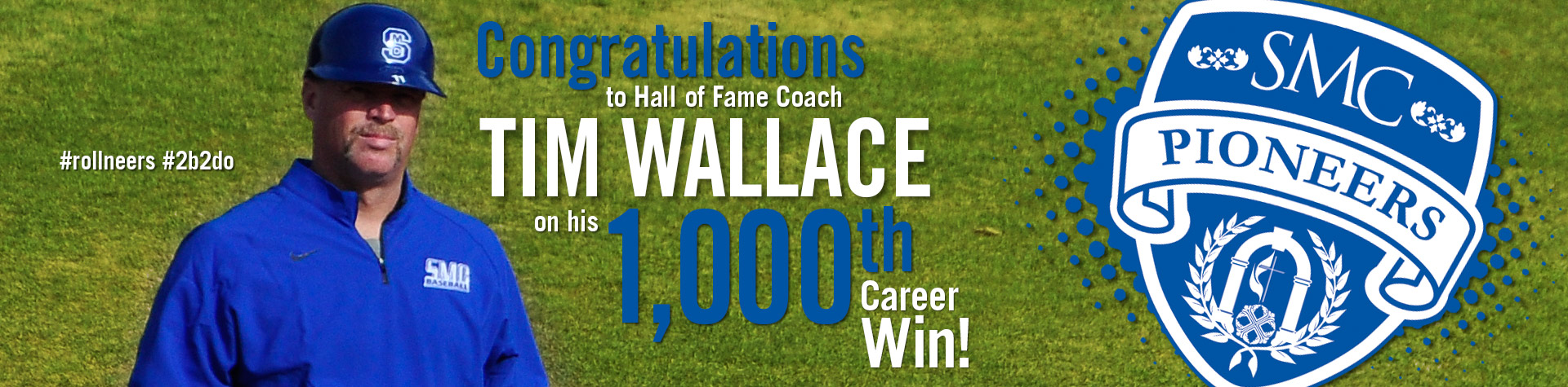 Pioneers split- Wallace earns 1000th win