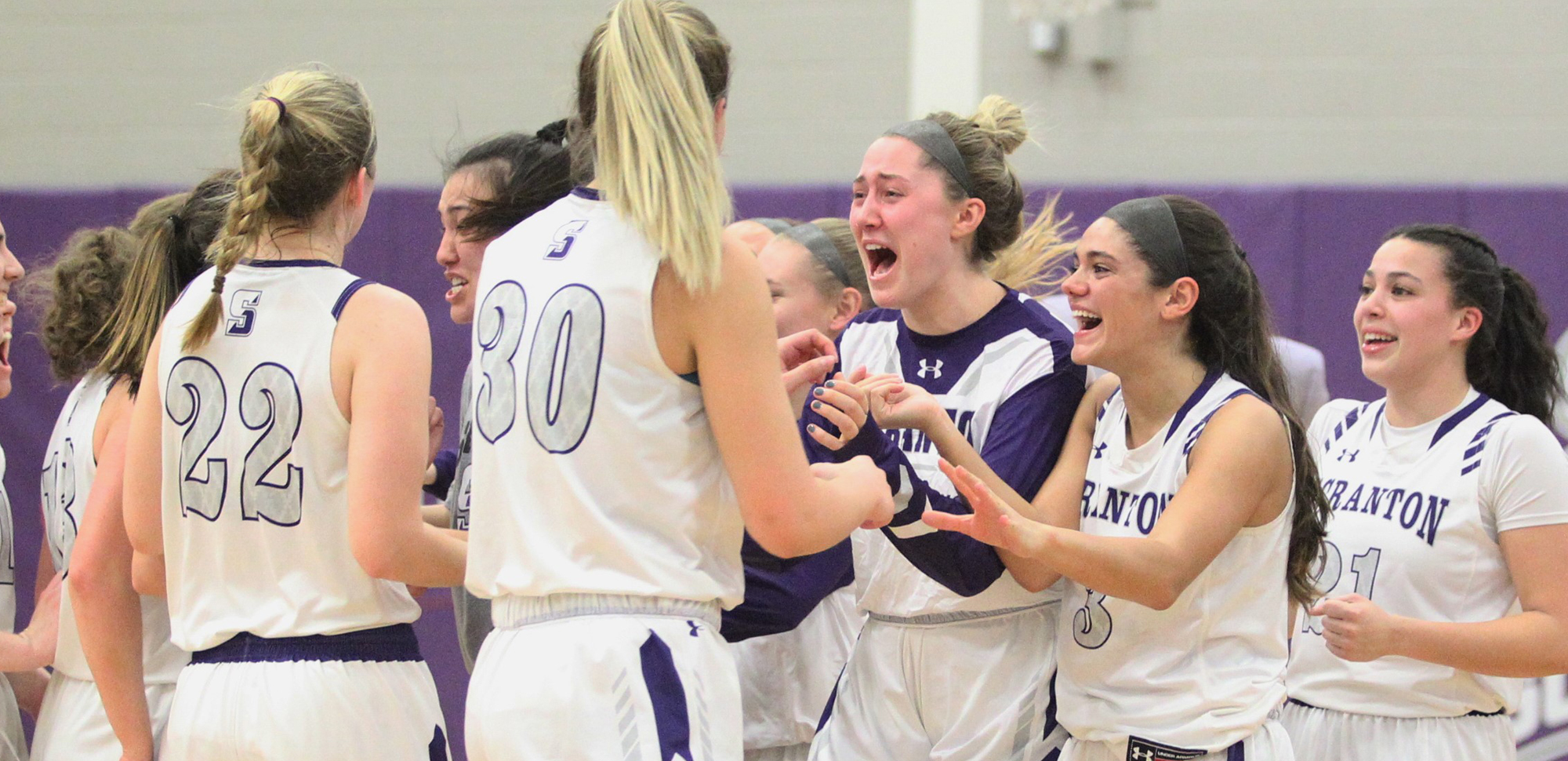 The University of Scranton Women's Basketball team scored the final 15 points of regulation to storm past Tufts, 44-40, in the NCAA Quarterfinals on Saturday night. © Photo by Timothy R. Dougherty / doubleeaglephotography.com