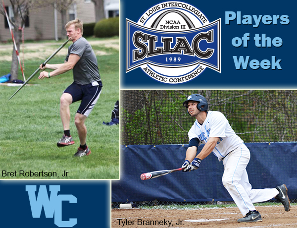 Robertson and Branneky Named SLIAC Players of the Week