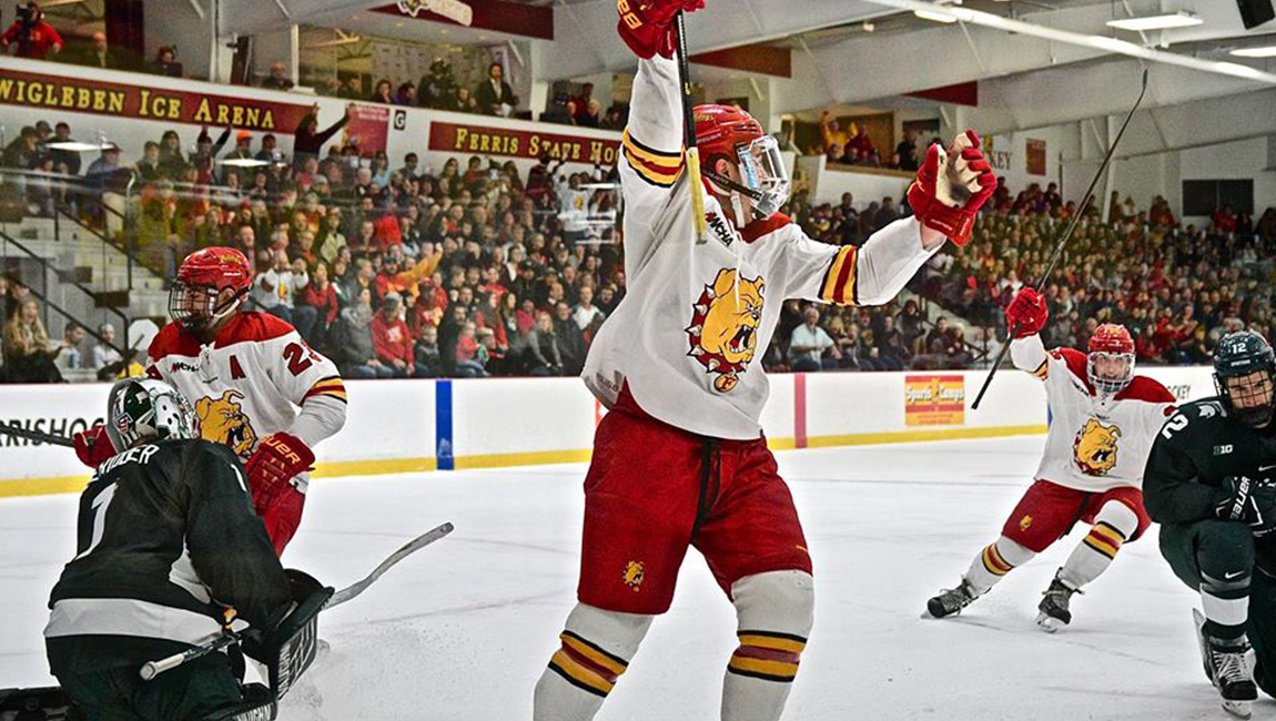 Ferris State Skates Past Michigan State Before Sold Out Home Crowd