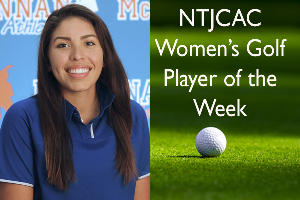 NTJCAC Women's Golfer of the Week (Oct. 1-7)