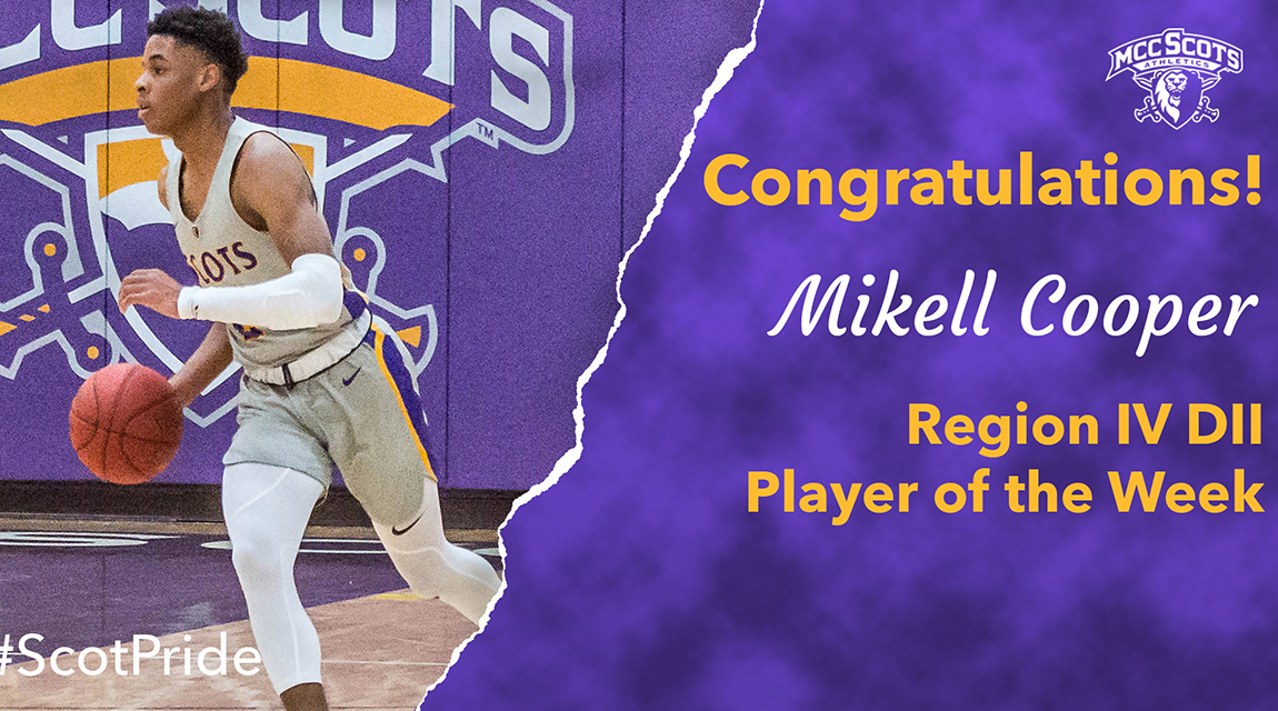 Basketball player Mikell Cooper, Player of the Week