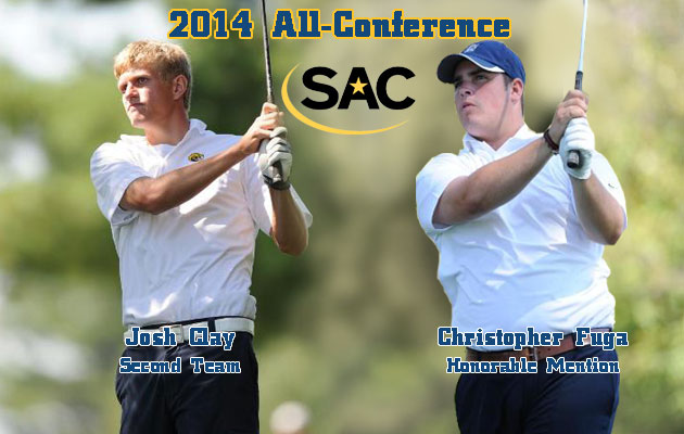 Coker's Clay and Fuga Named to All-SAC Men's Golf Teams