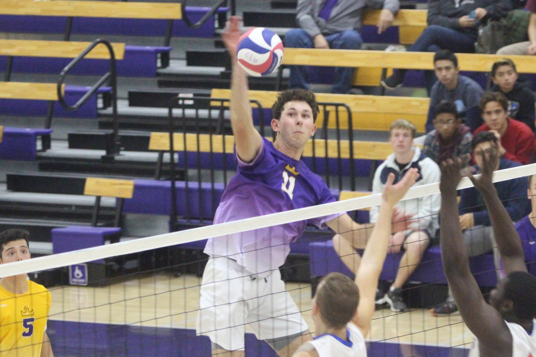 Dietrich tallied 15 kills as the Kingsmen defeated No. 4 Stevens 3-2.