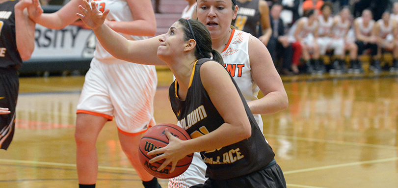 Senior All-OAC point guard Mackenzie Colombo scored a career-high 25 points.
