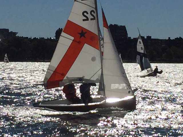 Dinghy Sailing Records Solid Third Place Finish In Chilly Conditions At MIT Crews Regatta