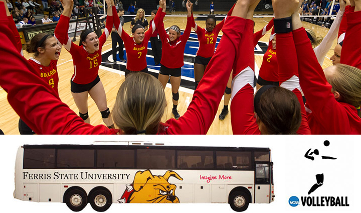 Ferris State To Offer Fan Bus To NCAA Regional Volleyball Match Thursday